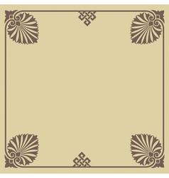 Old greece frame vector