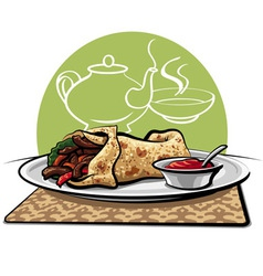 Shawarma vector