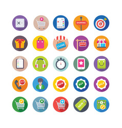 Shopping and commerce icons 9 vector