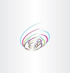 tech colorful logo spiral icon vector image vector image