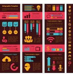 Technology industry infographic elements vector