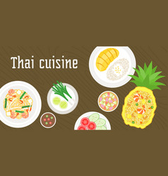 thai dishes vector image