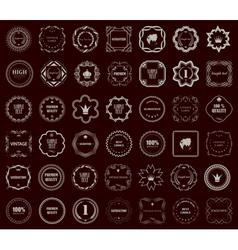 Vintage style retro emblem label collection Design vector image vector image