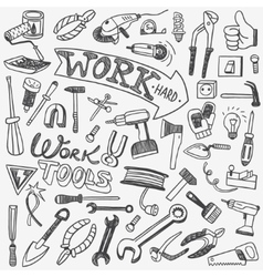working tools doodles vector image