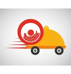 Fast delivery food sweet donut vector