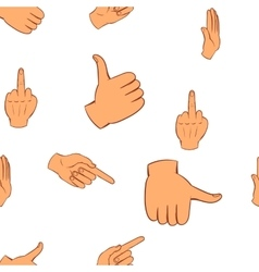 Hand pattern cartoon style vector image