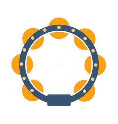 Tambourine part of musical instruments set of vector