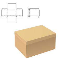 Clear carton box vector