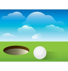 Golf putting green background vector
