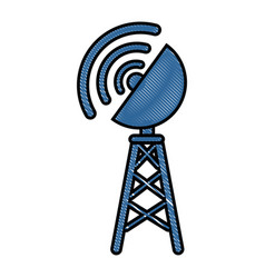 Antenna icon image vector