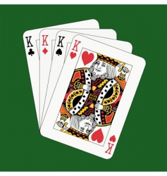 kings poker vector image