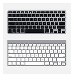 Two keyboards vector