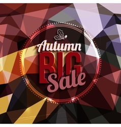 Autumn sale typography on triangular background in vector