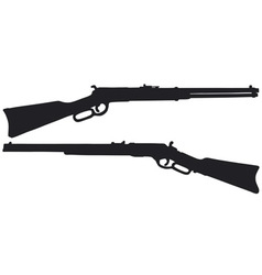 Two old american rifles vector