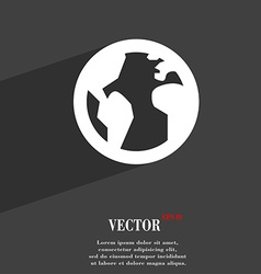 Globe world map geography icon symbol flat modern vector