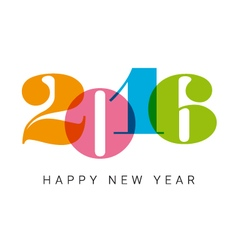 Happy new year 2016 number font vector