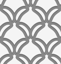 White shield shapes on gray pattern vector