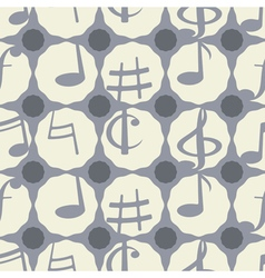 Seamless background with musical notes vector