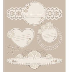 Set of vintage ornate frames with floral elements vector