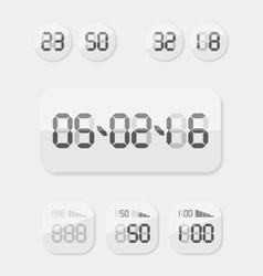 Countdown Timer date and clock vector image