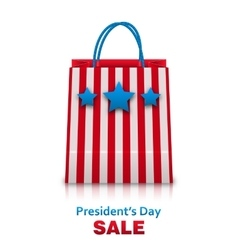 Shopping bag in usa patriotic colors for vector