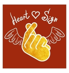 Sign icon symbol hand heart vector