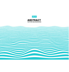 Abstract blue lines wave wavy stripes pattern vector