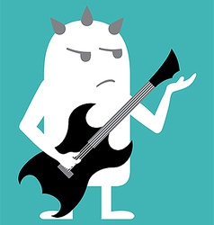 Animated personality rock guitarist vector