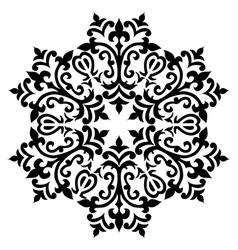 Antique ottoman turkish pattern design sixty vector