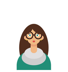 beautiful young woman teacher wearing glasses vector image