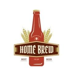 Beer emblem vector image