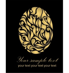 Black vintage abstract gold card vector