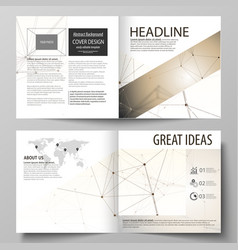 Business templates for square design bi fold vector