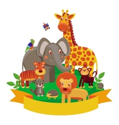 cartoon animals - zoo vector image vector image