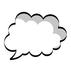 Cloud pop art vector