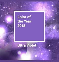 Color of the year 2018 color trend palette vector