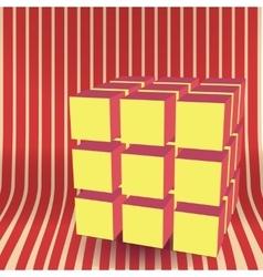 Cube block 3d vector