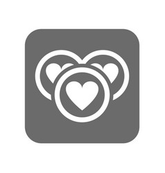 Customer service icon with heart sign vector