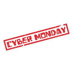 cyber monday rubber stamp vector image vector image