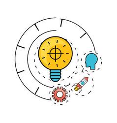 Development process and social teamwork data vector