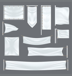 empty or blank fabric template on transparent vector image vector image