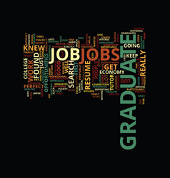 Graduate jobs text background word cloud concept vector