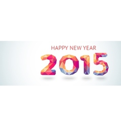 Happy new year 2015 colorful greeting card made in vector