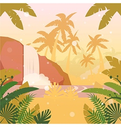 Jungle Flat Background20 vector image vector image