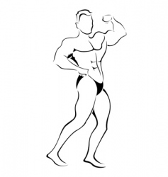 muscle man sketch vector image vector image