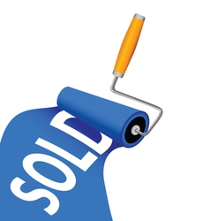 painting and sold in blue color vector image