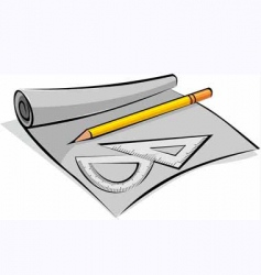 pencil and use equipment vector image vector image