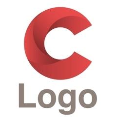 Red circles logo concept vector image vector image
