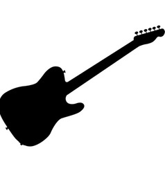 Rock guitar silhouette vector