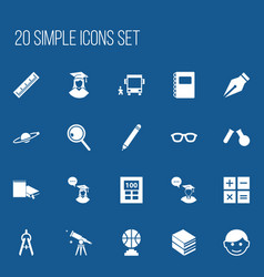 set of 20 editable education icons includes vector image vector image